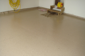 reapainted floor after