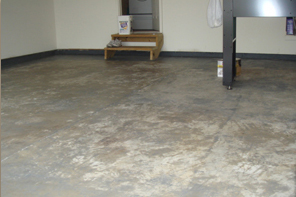 reapainted floor before