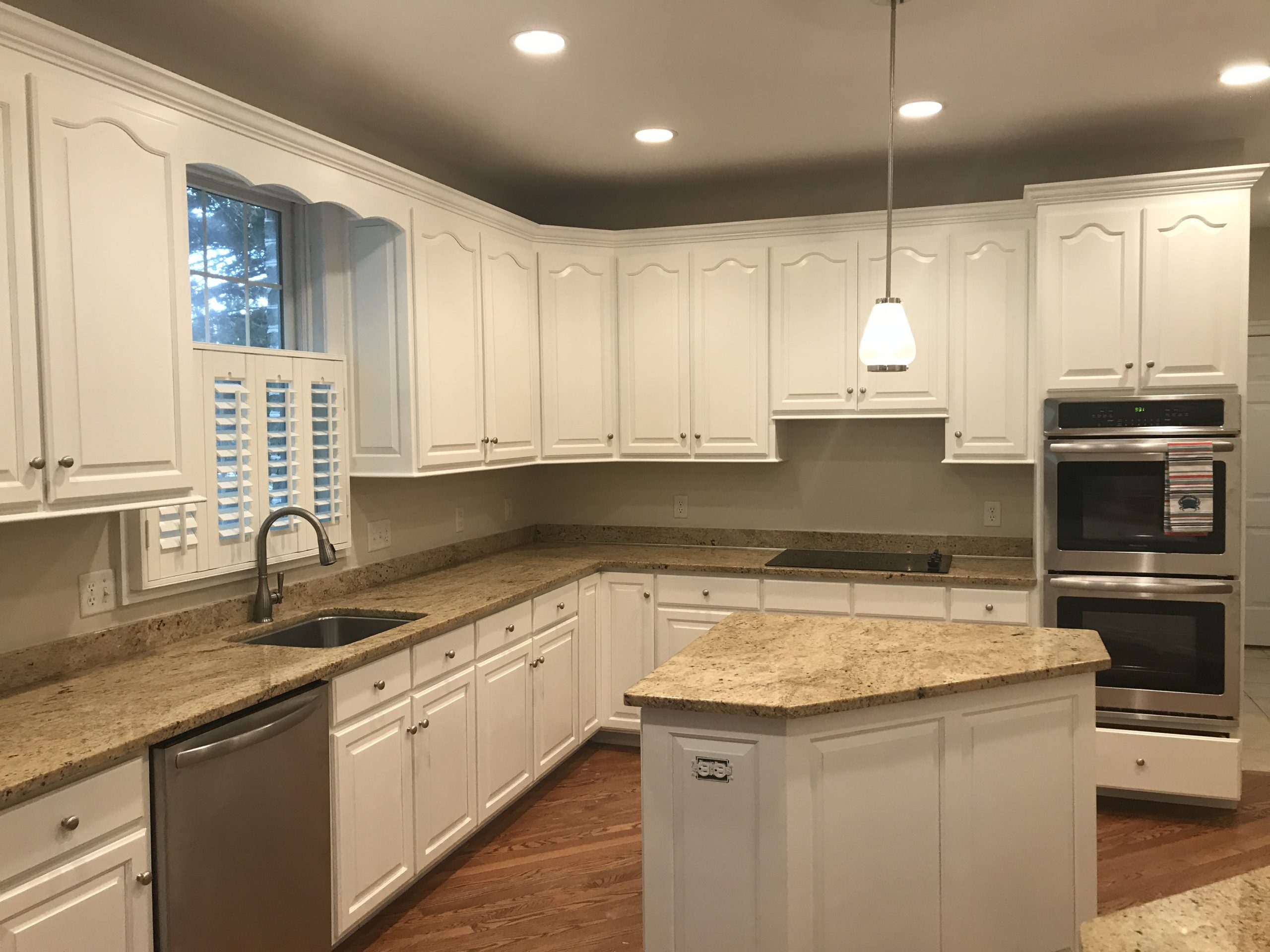 painted kitchen after picture